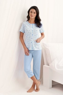 Luna Simona 547 Modré Dámské pyžamo