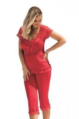 Dkaren Tania červená Dámské pyžamo