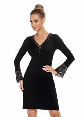 Donna Stella II černá Noční košile