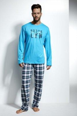 Cornette 124/107 Long island Tyrkysové Pánské pyžamo