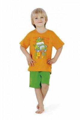 Cornette 789/16 Crocodyl Oranžové Chlapecké pyžamo