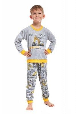 Cornette 593/57 Machine kids Šedé Chlapecké pyžamo