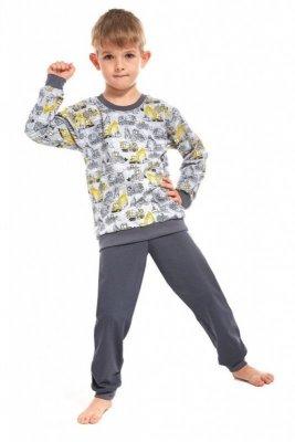 Cornette 593/58 Machine 2 kids Šedé Chlapecké pyžamo