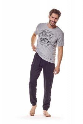 Henderson 36204 90x Šedé Pánské pyžamo
