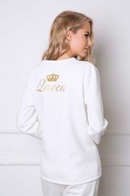 Aruelle Crown Long White Dámské pyžamo