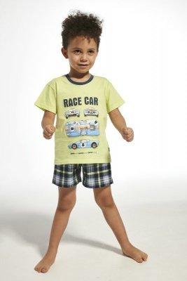 Cornette 789/68 kids race car seledinové Chlapecké pyžamo