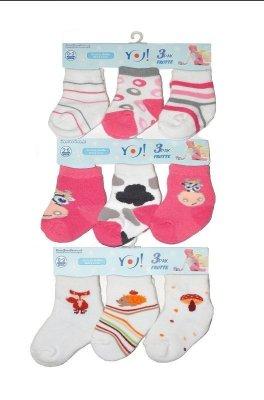 YO! Girls SKF Frotte 0-9 mcy A'3 mix ponožky pro dívky