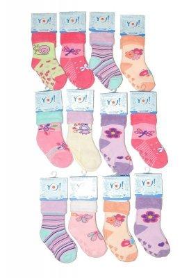 YO! Girls SKF Frotte ABS 20-25 A'12 mix Dívčí ponožky