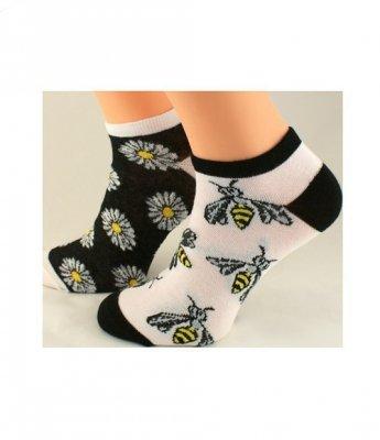 Bratex Popsox 4455 Vzorované dámské kotníkové ponožky