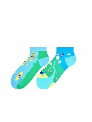 More 069 dámské nepárové kotníkové ponožky