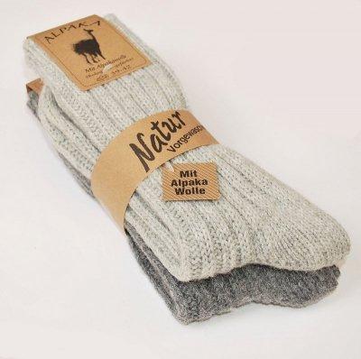 WiK 20901 Alpaka Natur A'2 Ponožky