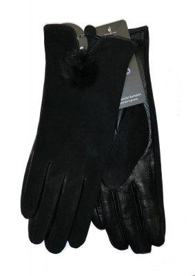 YO! R-149 Dámské rukavice Kůže, semiš