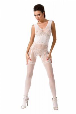 Passion BS052 bílý Bodystocking