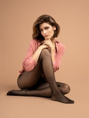 Fiore Demoiselle Black 10DEN Punčochové kalhoty