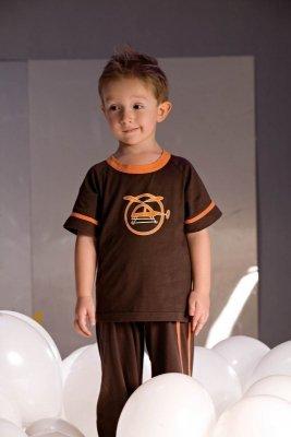 Piccolo Meva Noe 2975 hnědé Chlapecké pyžamo