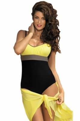 Dámské plavky Marko Whitney Nero-Tweety-Fango M-253 černo-žluté