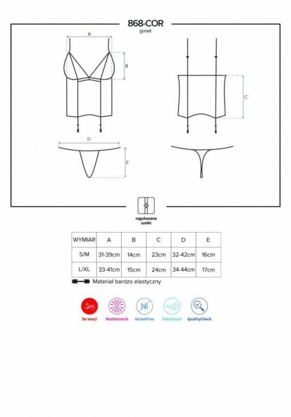 7e955f7a5 Obsessive 868-COR-1 Korzet - Sexy korzety - Erotické spodní prádlo