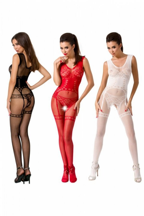 Passion BS052 červený Bodystocking