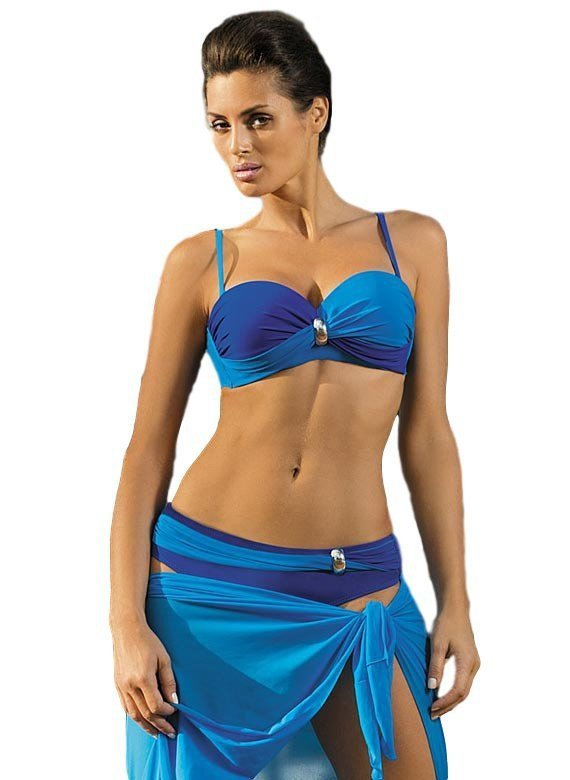 Dámské plavky Marko Liliana Regatta-Sicily M-259 Tmavě modro-modré