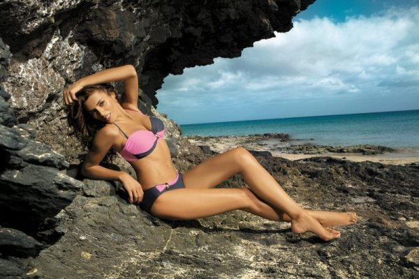 Dámské plavky Marko Liliana Titanium-Hollywood M-259 šedo-růžové
