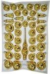 Zestaw dekorowany 39 szt. złoty błysk