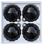 Bombki gładkie 10 cm 4 szt czarna porcelana