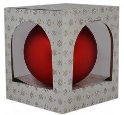 Bombka gładka duża 15 cm czerwony mat