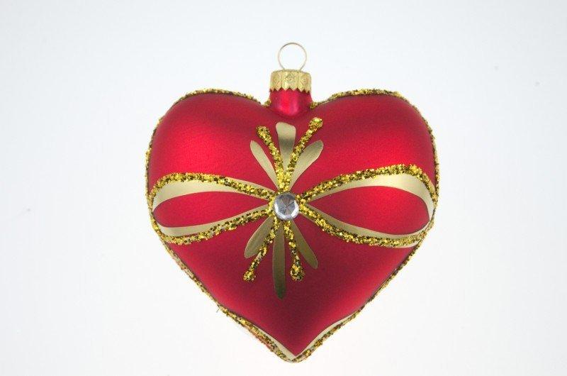 Serce czerwone 9cm