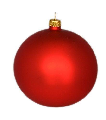 Bombka gładka 12 cm 1 szt  czerwony mat