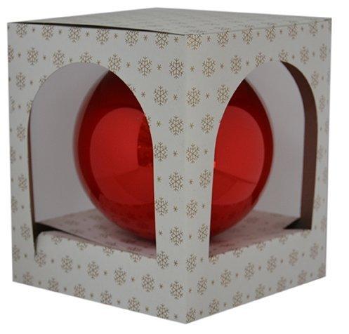 Bombka gładka duża 15 cm czerwony opal