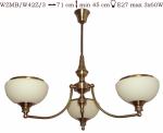 Żyrandol mosiężny JBT Stylowe Lampy WZMB/W42Z/3