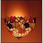Lampa ścienna kinkiet witraż JESIEŃ 30cm