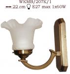 Kinkiet mosiężny JBT Stylowe Lampy WKMB/207K/1