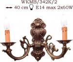 Kinkiet mosiężny JBT Stylowe Lampy WKMB/342K/2