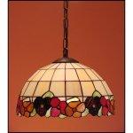 Lampa żyrandol zwis witraż  BRATKI 50cm