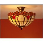 Plafon lampa żyrandol witraż AKSAMIT 30cm