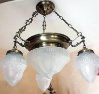 Żyrandol mosiężny JBT Stylowe Lampy WZMB/W22/2+3