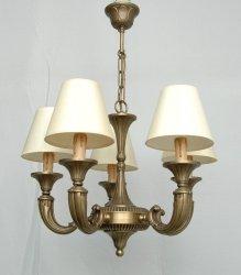 Żyrandol mosiężny JBT Stylowe Lampy WZMB/723/5