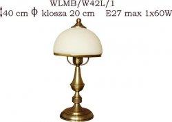 Lampka mosiężna JBT Stylowe Lampy WLMB/W42L/1