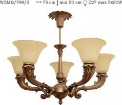 Żyrandol mosiężny JBT Stylowe Lampy WZMB/798/5