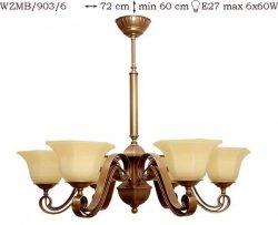 Żyrandol mosiężny JBT Stylowe Lampy WZMB/903/6