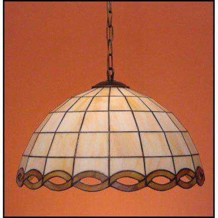 Lampa żyrandol zwis witraż WARKOCZ 50cm