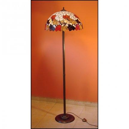 Lampa witrażowa podłogowa stojąca  JESIEŃ