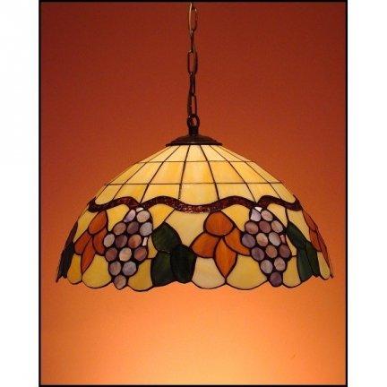 Lampa żyrandol zwis witraż WINOGRON 40cm