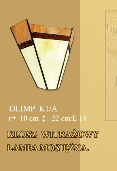 Lampa ścienna kinkiet witraż OLIMP K1/A