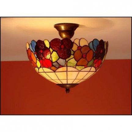 Plafon lampa żyrandol witraż WIOSNA 30cm