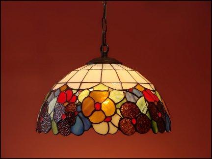 Lampa żyrandol zwis witraż WIOSNA 30cm