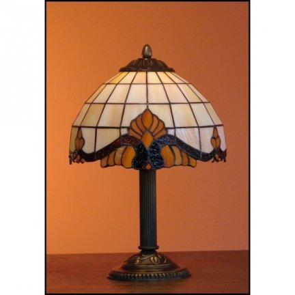 Lampka witrażowa nocna biurkowa CLASSIC H-34 cm