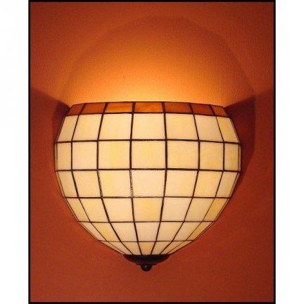 Lampa ścienna kinkiet witraż KULA 25cm
