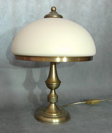 Lampka biurkowa mosiężna,lampka stołowa mosiądz